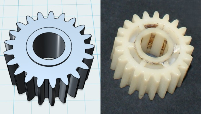 The gearbox small cogs