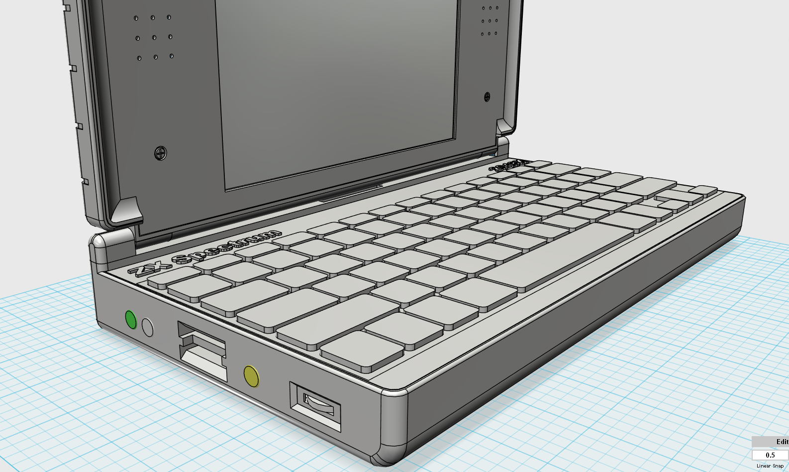 ZX Spectrum Next Laptop Design 2