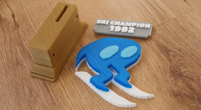 Horace Goes Skiing Trophy Parts Printed