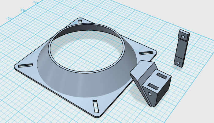 The Cooling Fan Bracket Design - Separate Pieces